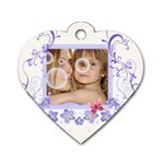 flower tag - Dog Tag Heart (Two Sides)