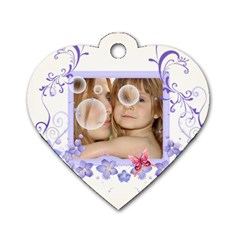 Flower Tag By Wood Johnson   Dog Tag Heart (two Sides)   Ey86v3g3mg98   Www Artscow Com Back