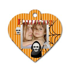 Halloween Tag By Wood Johnson   Dog Tag Heart (two Sides)   996g1hx4r6u4   Www Artscow Com Back