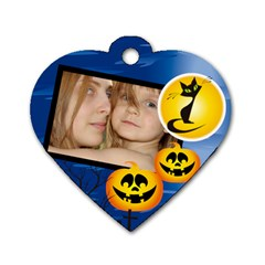 Halloween Tag By Wood Johnson   Dog Tag Heart (two Sides)   3t2zeehrdwhw   Www Artscow Com Back