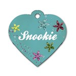 Blue Glitter Dog Tag - Dog Tag Heart (Two Sides)