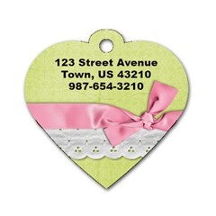 Pink Floral Dog Tag By Mikki   Dog Tag Heart (two Sides)   X3j782qaw7rw   Www Artscow Com Back