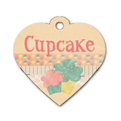 Cupcake Dog Tag By Mikki   Dog Tag Heart (two Sides)   0gtnci6xzfvr   Www Artscow Com Front