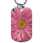 Pink Flower - Dog Tag (Two Sides)