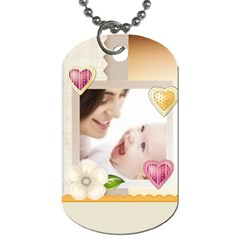 Baby Flower Tag By Joely   Dog Tag (two Sides)   1ib2hcoao5yi   Www Artscow Com Front