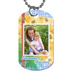 summer tag - Dog Tag (One Side)