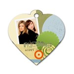 friendship tag - Dog Tag Heart (One Side)