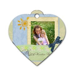 Nice Weather By Joely   Dog Tag Heart (two Sides)   Lwzzfthi8y2w   Www Artscow Com Back