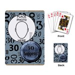 30th Birthday Playing Cards - Playing Cards Single Design