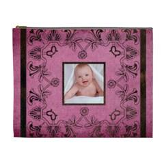 Pink Art Nuveau Cosmetic Bag By Catvinnat   Cosmetic Bag (xl)   Hjpf1qdb9w7l   Www Artscow Com Front