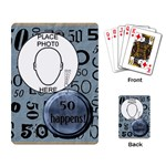 50th Birthday Playing Cards - Playing Cards Single Design