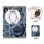 70th Birthday Playing Cards - Playing Cards Single Design
