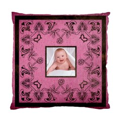 Pink Art Nuveau Cushion By Catvinnat   Standard Cushion Case (two Sides)   Xns8oj5rgyug   Www Artscow Com Front