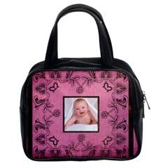 Pink Art Nuveau Handbag By Catvinnat   Classic Handbag (two Sides)   E5k3z5xvd0xl   Www Artscow Com Front