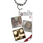 Family 3 photo tag - Dog Tag (One Side)
