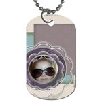 Flower tag - Dog Tag (One Side)
