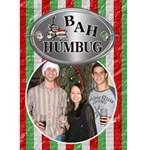 Bah humbug Christmas Card - Greeting Card 5  x 7