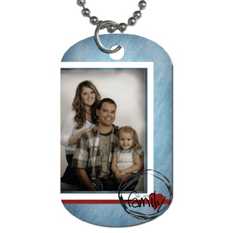 We Are Family Tag By Amanda Bunn   Dog Tag (one Side)   Afe3afsnpt74   Www Artscow Com Front