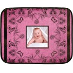 Art Nouveau Pink Mini Fleece - Fleece Blanket (Mini)