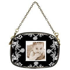 Art Nuuveau Black & White Chain Purse By Catvinnat   Chain Purse (two Sides)   Jtco1pasbpx3   Www Artscow Com Front