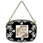Art Nuuveau Black & white chain purse - Chain Purse (Two Sides)