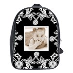 Art Nouveau Black & white backpack school bag - School Bag (Large)