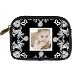 Art Nouveau Black & White DigitalCamera Case - Digital Camera Leather Case