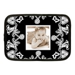 Art Nouveau Black & White 10 inch medium netbook case - Netbook Case (Medium)