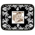 Art nouveau Black & white 15 inch netbook case - Netbook Case (XXL)