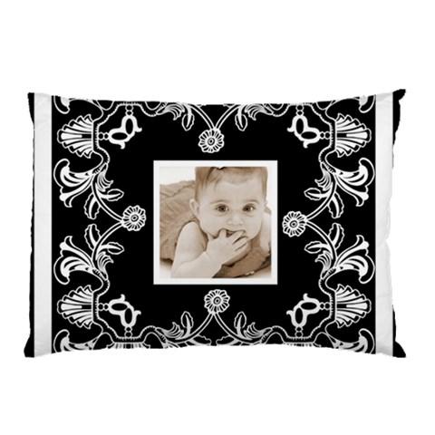 Art Nouveau Black & White Pillow Case By Catvinnat   Pillow Case   M98dlv1u9on1   Www Artscow Com 26.62 x18.9 Pillow Case