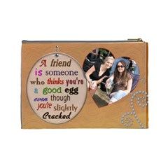 Old Friend Large Cosmetic Bag By Lil    Cosmetic Bag (large)   Kou9kkimpvs3   Www Artscow Com Back