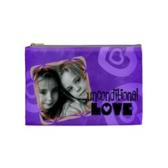 Unconditional Love Violet   Cosmetic Bag (medium)   By Carmensita   Cosmetic Bag (medium)   T2mpzx19c9ff   Www Artscow Com Front