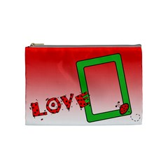Ladybag Love   Cosmetic Bag (medium)   By Carmensita   Cosmetic Bag (medium)   Mfl0lljd3li3   Www Artscow Com Front
