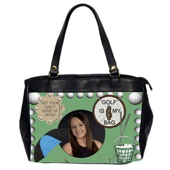 Golf Hand Bag By Lil    Oversize Office Handbag (2 Sides)   F9lombeoau8x   Www Artscow Com Front