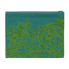 Turquoise & Lime Green Xl Cosmetic Bag By Klh   Cosmetic Bag (xl)   Jz4zvwfix5f9   Www Artscow Com Back