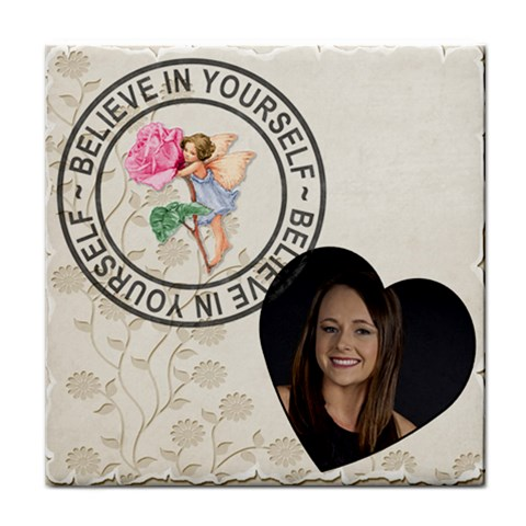 Believe In Yourself Coaster By Lil    Tile Coaster   5eezz88x1q5t   Www Artscow Com Front