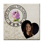 Stop to smell the Flowers Coaster - Tile Coaster