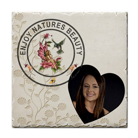 Enjoy Natures Beauty Coaster By Lil    Tile Coaster   Rhu918isd6xc   Www Artscow Com Front