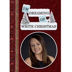 white Christmas  Card By Lil    Greeting Card 5  X 7    Hio701es2pwf   Www Artscow Com Front Cover