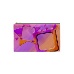 Pink & Orange Stars By Add In Goodness And Kindness   Cosmetic Bag (small)   Ti7r0p85e93c   Www Artscow Com Front