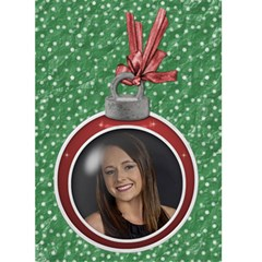 Christmas Ornament Card By Lil    Greeting Card 5  X 7    92la0buc5sn1   Www Artscow Com Front Cover