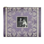 Art Nouveau lavendar lace extra Large cosmetic bag - Cosmetic Bag (XL)