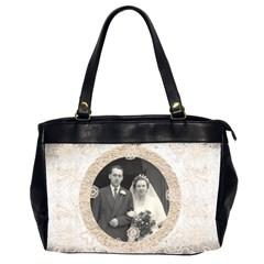 Art Nouveau Antique Lace Oversized Office Bag By Catvinnat   Oversize Office Handbag (2 Sides)   08po8m3e7zpg   Www Artscow Com Front