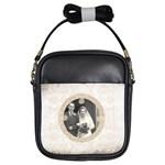 art nouveau antique lace girls sling bag