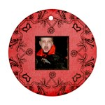 vampire halloween  round ornament - Round Ornament (Two Sides)
