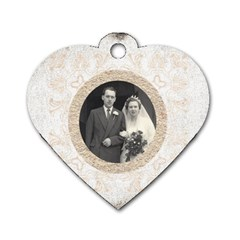 Art Nouveau Antique Lace Heart Dogtag By Catvinnat   Dog Tag Heart (two Sides)   8ao889mn51yb   Www Artscow Com Front