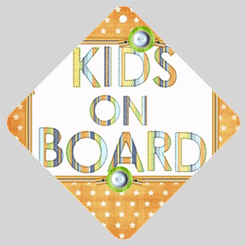 Kids Car Window Sign By Noheya   Car Window Sign   Hp04qgfi34pb   Www Artscow Com Front