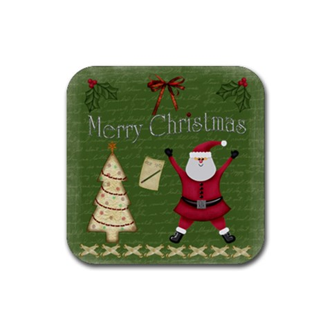 Xmas Coasters By Michelle   Rubber Coaster (square)   Jvkgj5uem6oi   Www Artscow Com Front