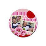 Rose family - Rubber Coaster (Round)