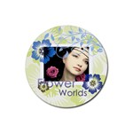 flower - Rubber Coaster (Round)